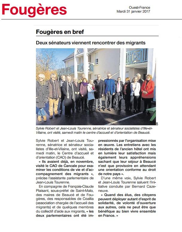 Article Ouest-France CAO La Beaucé