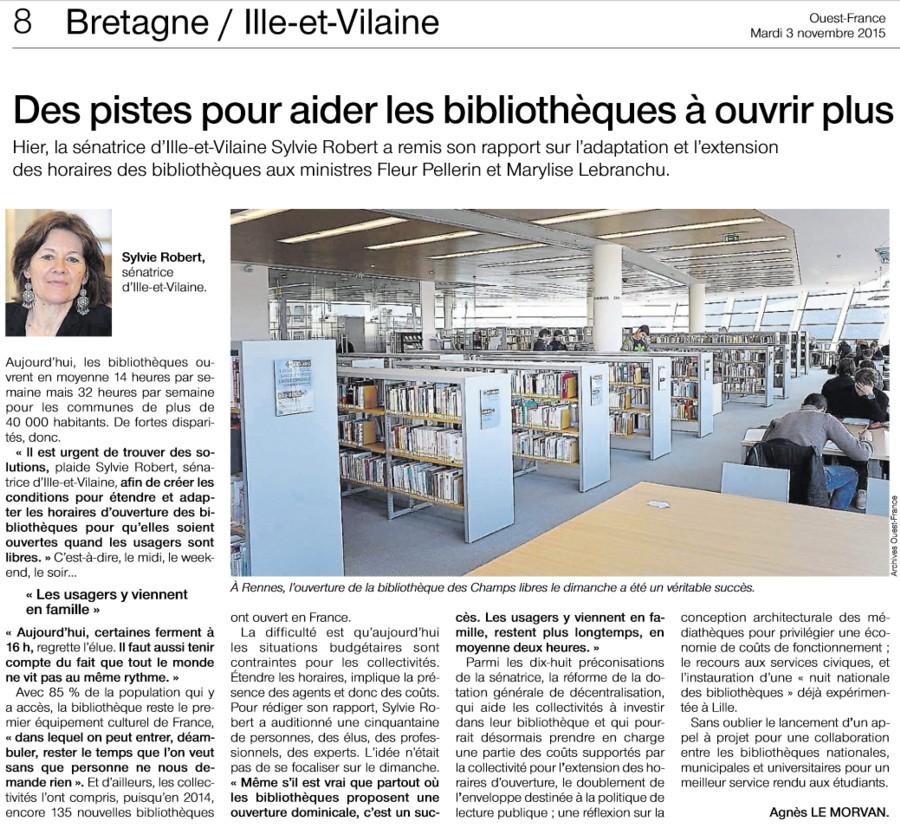 Rapport de Sylvie Robert à Fleur Pellerin Ministre de la Culture