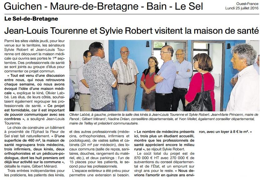 Article Ouest-France le Sel-de-Bretagne