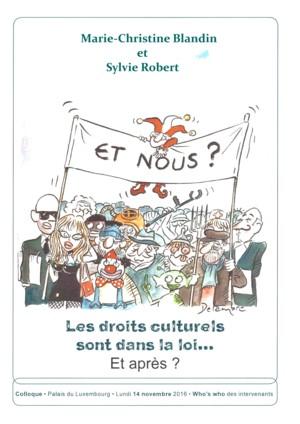 Affiche Droits culturels