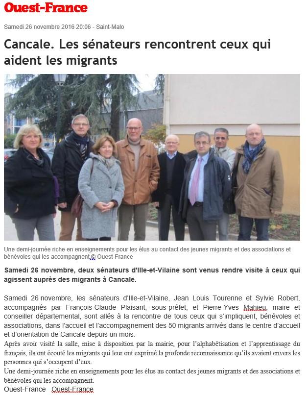 Article de Ouest-France CAO Cancale