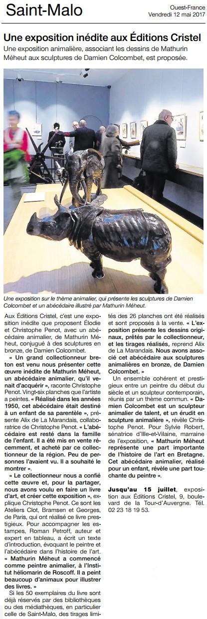 Ouest-France exposition Mathurin Meheust Saint-Malo
