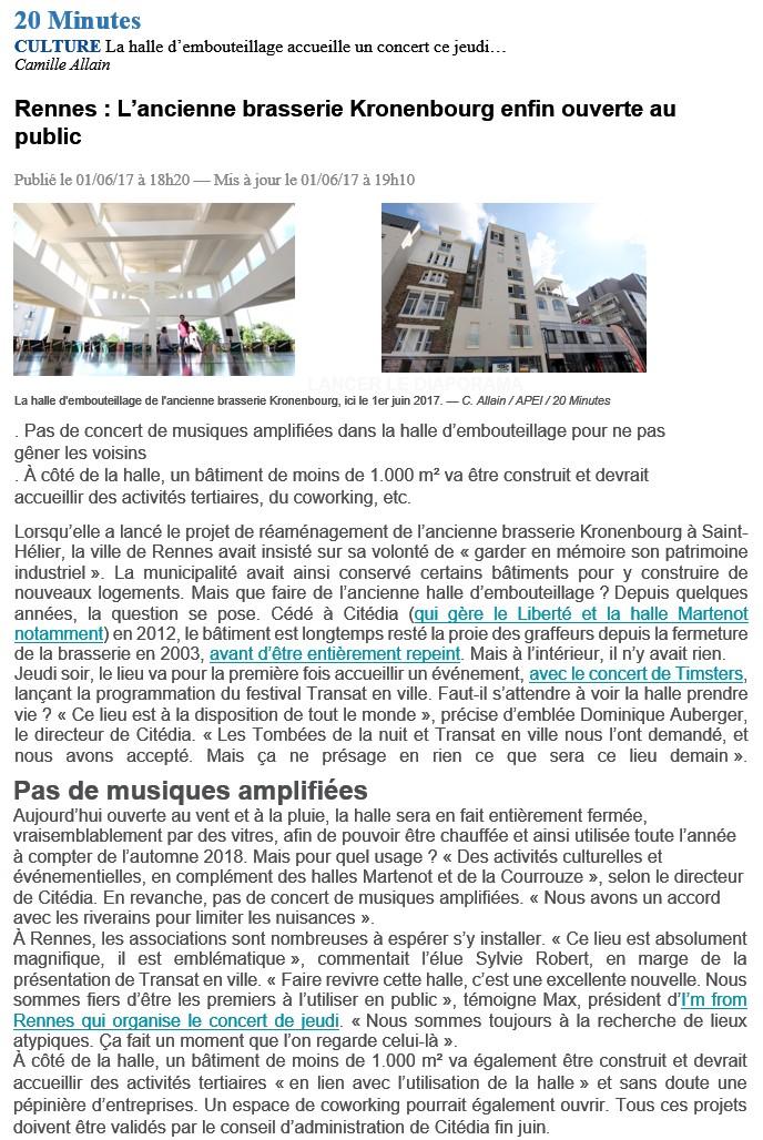 Article 20 Minutes Brasserie Kronenbourg