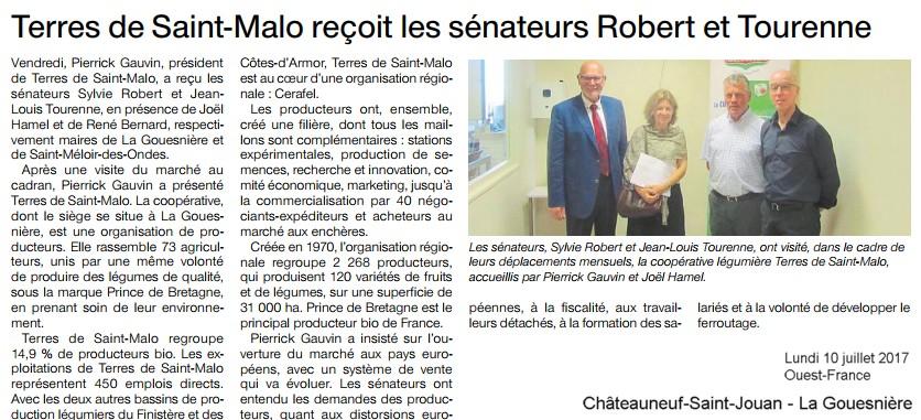 Article Ouest-France Le cadran