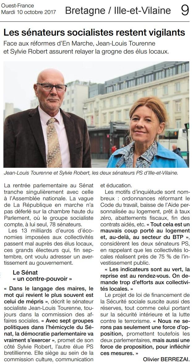 Article Ouest-France Conférence de rentrée
