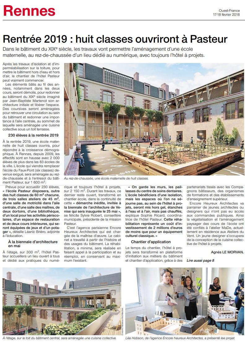 Article Ouest-France Pasteur