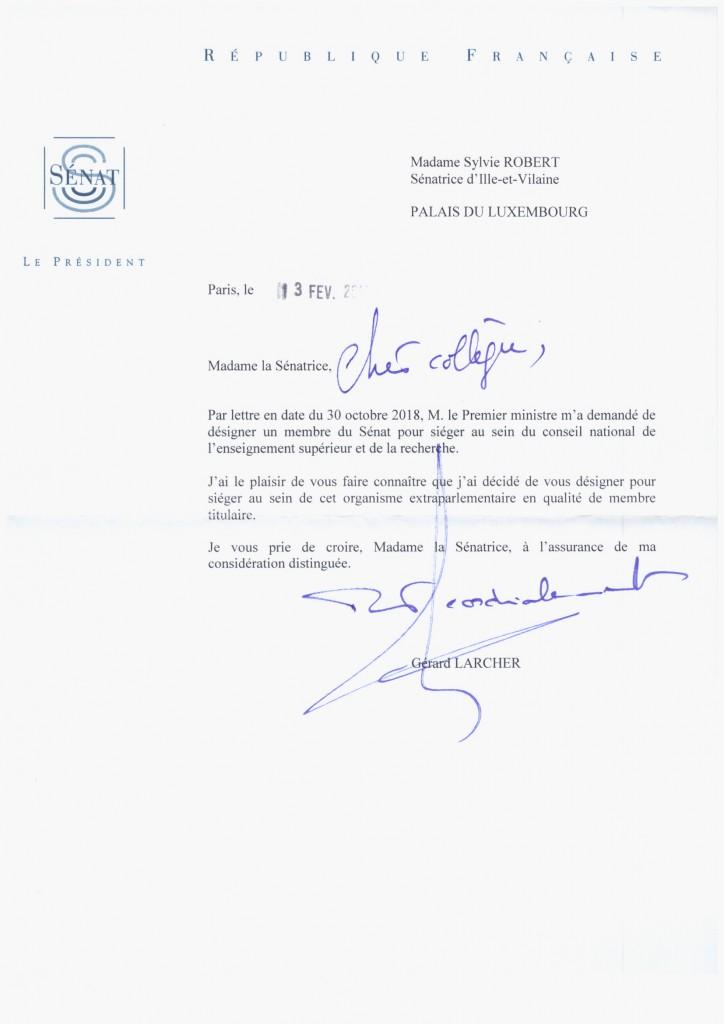 Nomination au CNESER